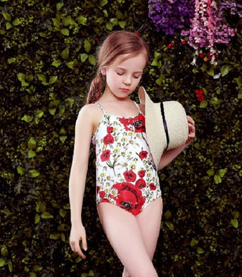 13bf4fb627723 W.L.MONSOON Baby Girls Swimwear Bikini Summer One Piece Swimsuit Floral  Print Children Swim Wear Bathing Suit Kids Bikini