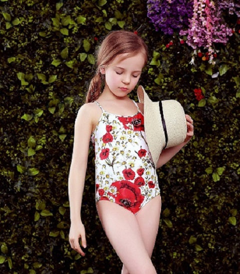 065c6252a5 W.L.MONSOON Baby Girls Swimwear Bikini Summer One Piece Swimsuit Floral  Print Children Swim Wear Bathing Suit Kids Bikini
