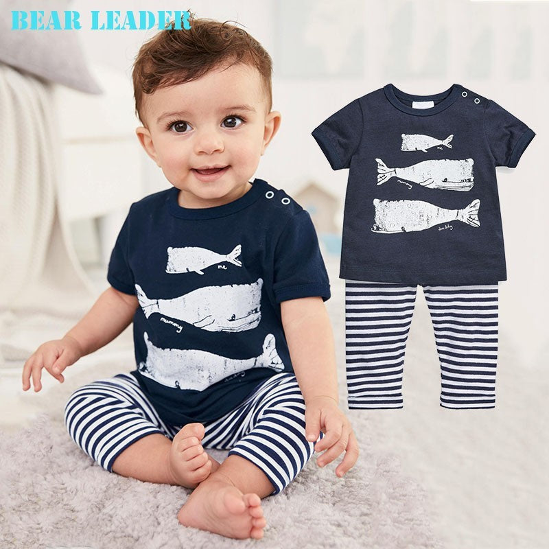 2PCS Toddler Kids Baby boys Outfits Long Sleeve Tops+Pants Clothes sets bear