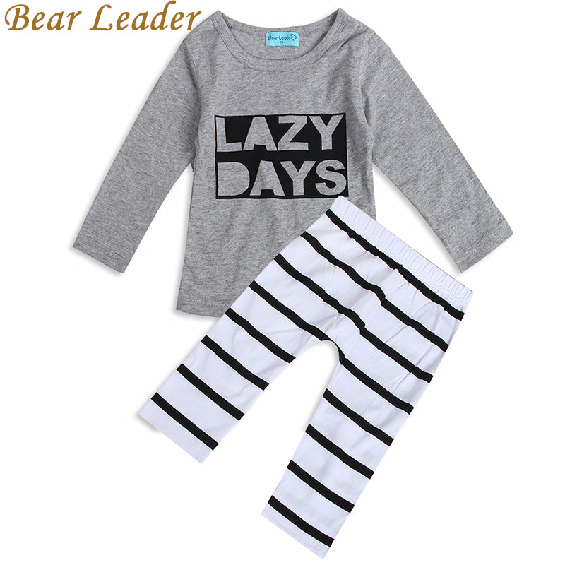 7bcee563746b5 Bear Leader 2018 Spring Baby Baby Boys Clothing Sets Cotton Long-sleeved  Letter T-