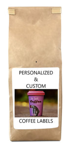 Custom Label Coffee (Includes Five  12 oz Bags of Fresh Roasted Coffee per Order)