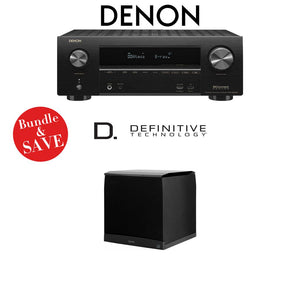 Denon AVR-X2500H 7.2-Channel 4K Ultra HD Network A/V Receiver + (1) Definitive Technology SuperCube4000 - Bundle