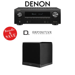Denon AVR-X2500H 7.2-Channel 4K Ultra HD Network A/V Receiver + (1) Definitive Technology SuperCube6000 - Bundle