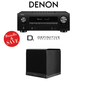 Denon AVR-X3500H 7.2-Channel 4K Ultra HD Home Theater Receiver + (1) Definitive Technology SuperCube6000 Powered Subwoofer - Bundle
