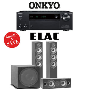 Onkyo TX-NR787 9.2-Channel 4K Network A/V Receiver + Elac F6.2 + Elac C6.2 + Elac Sub3030-3.1-Ch Home Theater Package