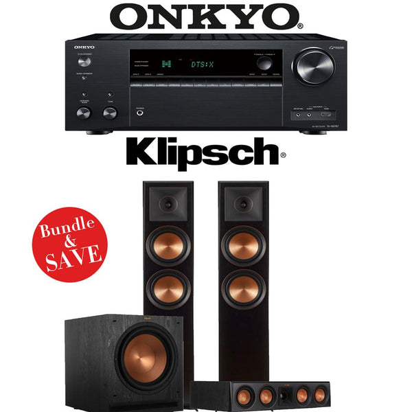 Klipsch RP-6000F 3.1-Ch Reference Premiere Home Theater Speaker System with Onkyo TX-NR787 9.2-Channel 4K Network AV Receiver