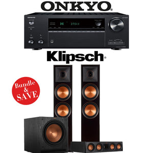 Klipsch RP-8000F 3.1-Ch Reference Premiere Home Theater Speaker System with Onkyo TX-NR787 9.2-Channel 4K Network AV Receiver