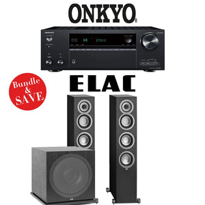 Onkyo TX-NR787 9.2-Channel 4K Network A/V Receiver + Elac UF5 + Elac Sub3030-2.1-Ch Home Theater Package