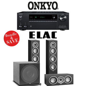 Elac Uni-Fi UF5 3.1-Ch Home Theater Speaker System with Onkyo TX-NR787 9.2-Channel 4K Network A/V Receiver