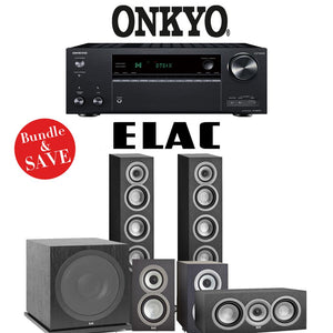 Elac Uni-Fi UF5 5.1-Ch Home Theater Speaker System with Onkyo TX-NR787 9.2-Channel 4K Network A/V Receiver
