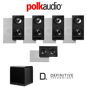 Polk Audio 265LS 5.1-Ch Vanishing Series in-Wall/in-Ceiling Home Theater System (265-LS + 255C-LS + SuperCube6000)