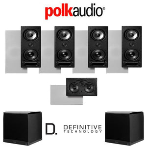 Polk Audio 265LS 5.2-Ch Vanishing Series in-Wall Home Theater System (265-LS + 255C-LS + SuperCube4000)