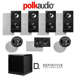 Polk Audio 265LS 7.1-Ch Vanishing Series in-Wall/in-Ceiling Home Theater System (265-LS + 900-LS + 255C-LS + SuperCube6000)