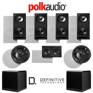 Polk Audio 265LS 7.2-Ch Vanishing Series in-Wall/in-Ceiling Home Theater System (265-LS + 80F/X-LS + 255C-LS + SuperCube4000)