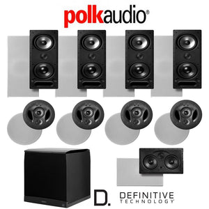 Polk Audio 265LS 9.1-Ch Vanishing Series in-Wall/in-Ceiling Home Theater System (265-LS + 900-LS + 255C-LS + SuperCube6000)