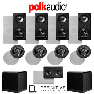 Polk Audio 265LS 9.2-Ch Vanishing Series in-Wall/in-Ceiling Home Theater System (265-LS + 80F/X-LS + 255C-LS + SuperCube4000)