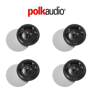 "Polk Audio 80F/X-LS High Performance in-Ceiling Surround Loudspeaker with Dual Tweeters and 8"" Driver (4 Pack)"