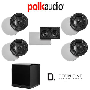 Polk Audio 80 F/X-LS 5.1-Ch Vanishing Series in-Ceiling/in-Wall Home Speaker System (80-F/X-LS + 255C-LS + SuperCube6000)