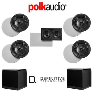 Polk Audio 80 F/X-LS 5.2-Ch Vanishing Series in-Ceiling/in-Wall Home Speaker System (80-F/X-LS + 255C-LS + SuperCube4000)