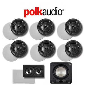 Polk Audio 80 F/X-LS 7.1-Ch Vanishing Series In-Ceiling / In-Wall Home Speaker System (80-F/X-LS + 255C-RT + HTS12)