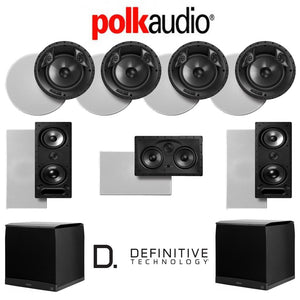 Polk Audio 80 F/X-LS 7.2-Ch Vanishing Series in-Ceiling/in-Wall Home Speaker System (80-F/X-LS + 265-LS + 255C-LS + SuperCube4000)