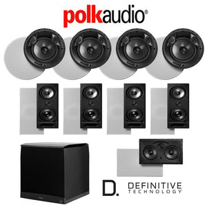 Polk Audio 80 F/X-LS 9.1-Ch Vanishing Series in-Ceiling/in-Wall Home Speaker System (80-F/X-LS + 265-LS + 255C-LS + SuperCube6000)