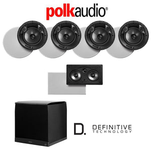 Polk Audio 80 F/X-RT 5.1-Ch Vanishing Series in-Ceiling/in-Wall Home Speaker System (80-F/X-RT + 255C-RT + SuperCube6000)
