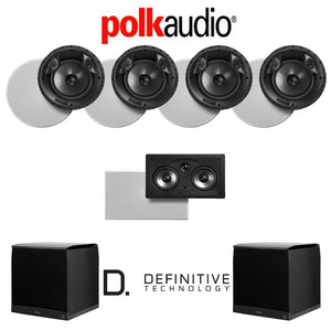 Polk Audio 80 F/X-RT 5.2-Ch Vanishing Series in-Ceiling/in-Wall Home Speaker System (80-F/X-RT + 255C-RT + SuperCube4000)