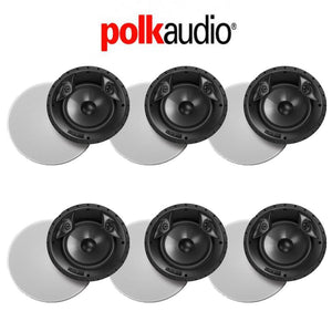 Polk Audio 80 F/X RT in-Ceiling Surround Loudspeaker with Dual Tweeters and 8-Inch Driver (6 Pack)