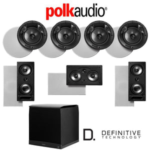 Polk Audio 80 F/X-RT 7.1-Ch Vanishing Series in-Ceiling/in-Wall Home Speaker System (80-F/X-RT + 265-RT + 255C-RT + SuperCube6000)
