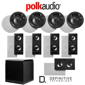 Polk Audio 80 F/X-RT 9.1-Ch Vanishing Series in-Ceiling/in-Wall Home Speaker System (80-F/X-RT + 265-RT + 255C-RT + SuperCube6000)