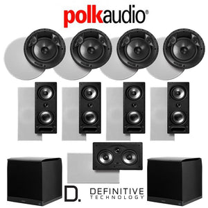Polk Audio 80 F/X-RT 9.2-Ch Vanishing Series in-Ceiling/in-Wall Home Speaker System (80-F/X-RT + 265-RT + 255C-RT + SuperCube4000)