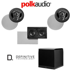 Polk Audio 900-LS 3.1 Vanishing Series in-Wall/in-Ceiling Home Theater System (900-LS + 255C-LS + Definitive Technology SuperCube4000)