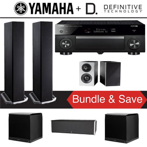 Definitive Technology BP9020 5.2-Ch High Performance Home Theater System with Yamaha AVENTAGE RX-A1080 7.2-Channel 4K Ultra HD Network A/...