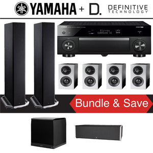 Definitive Technology BP9020 7.1-Ch High Performance Home Theater System with Yamaha AVENTAGE RX-A1080 7.2-Channel 4K Ultra HD Network A/...