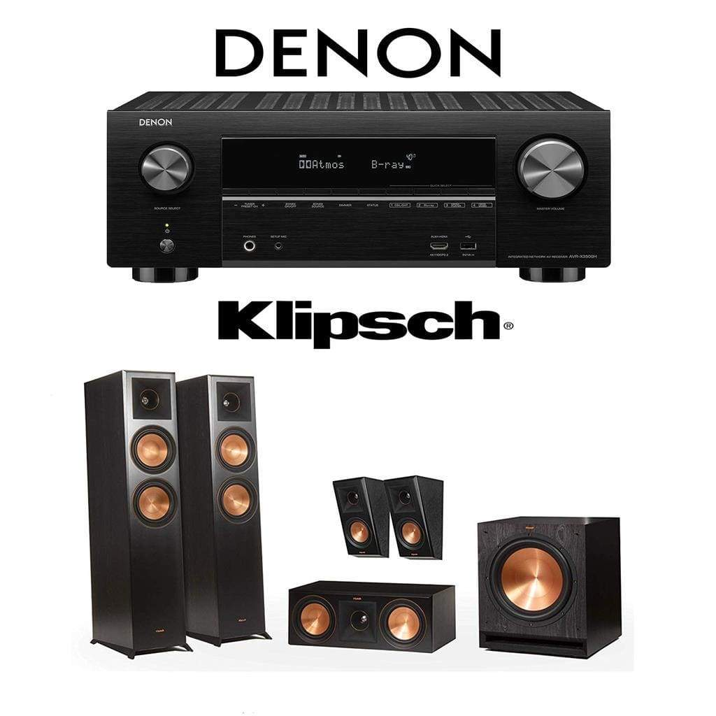 Klipsch RP-6000F 5.1 Home Theater System with Denon AVR-X3500H 7.2-Channel 4K Home Theater AV Receiver - Stereo Advantage