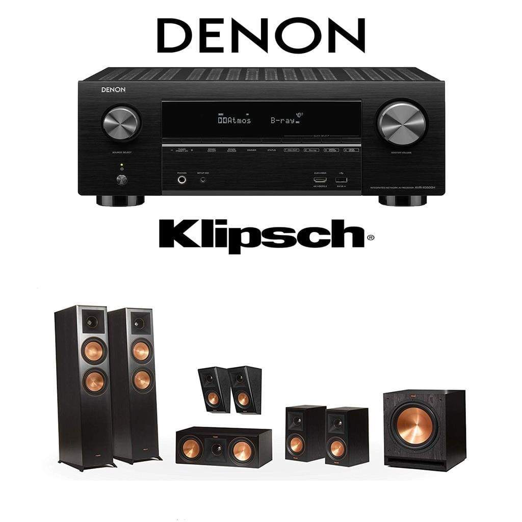 Klipsch RP-6000F 7.1 Home Theater System with Denon AVR-X3500H 7.2-Channel 4K Home Theater AV Receiver - Stereo Advantage