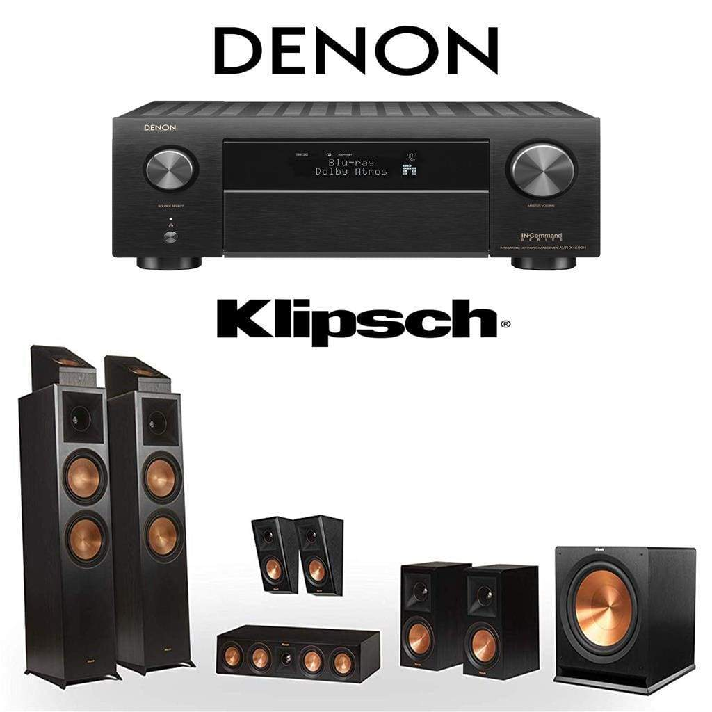 Klipsch RP-8000F 5.1.4 Dolby Atmos Home Theater System with Denon AVR-X4500H 9.2-Channel 4K Home Theater AV Receiver - Stereo Advantage