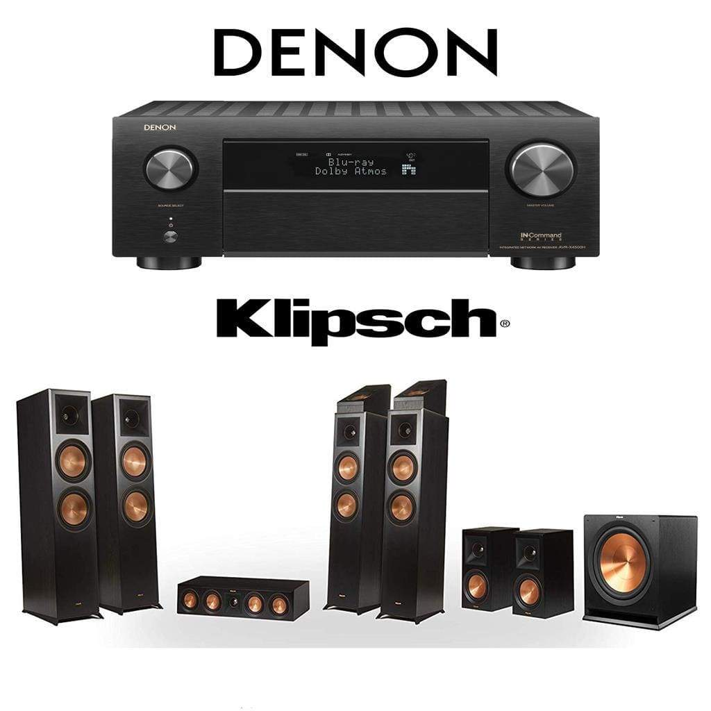 Klipsch RP-8060FA 7.1.4 Dolby Atmos Home Theater System with Denon AVR-X4500H 9.2-Channel 4K Home Theater AV Receiver - Stereo Advantage