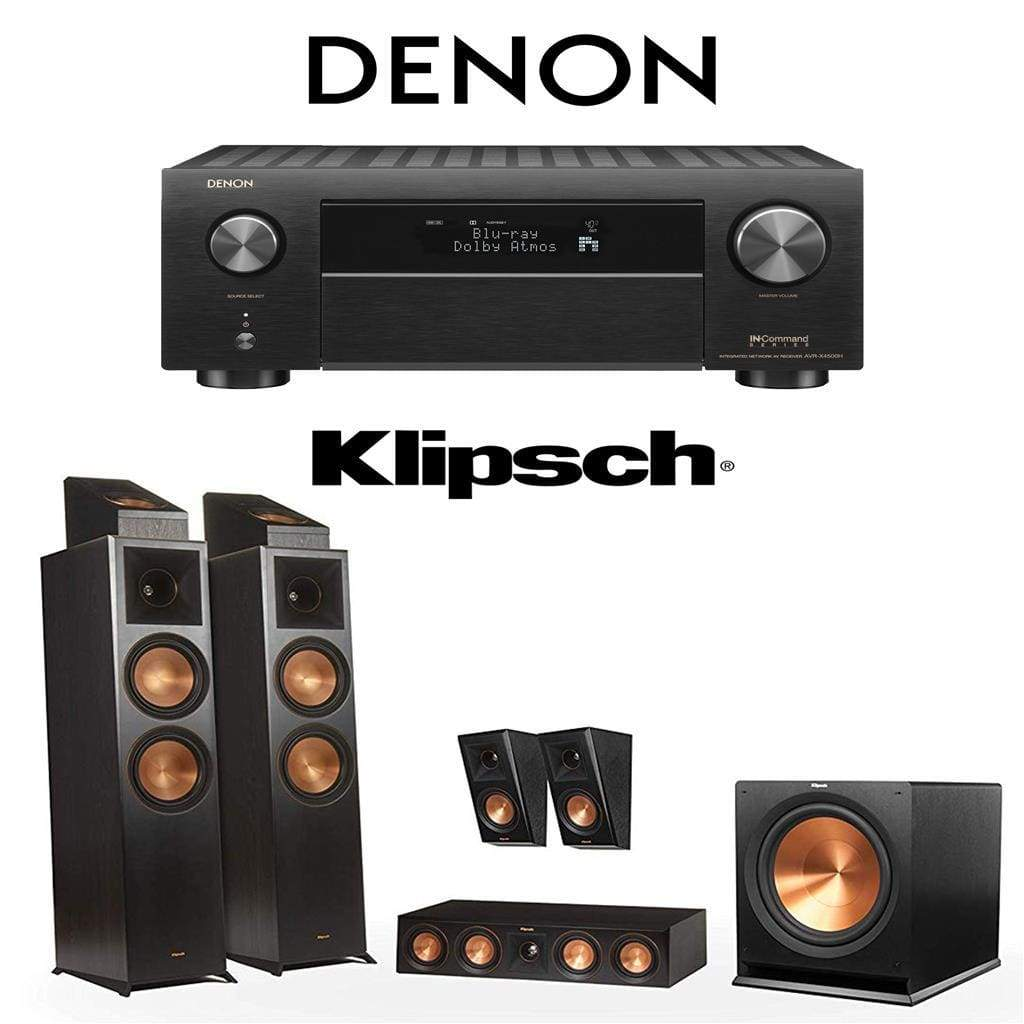 Klipsch RP-8000F 5.1.2 Dolby Atmos Home Theater System with Denon AVR-X4500H 9.2-Channel 4K Home Theater AV Receiver - Stereo Advantage
