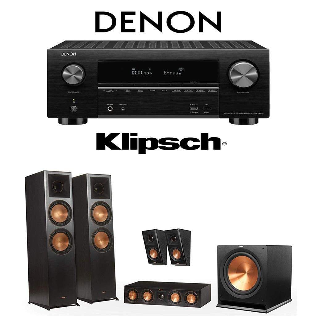 Klipsch RP-8000F 5.1 Home Theater System with Denon AVR-X3500H 7.2-Channel 4K Home Theater AV Receiver - Stereo Advantage