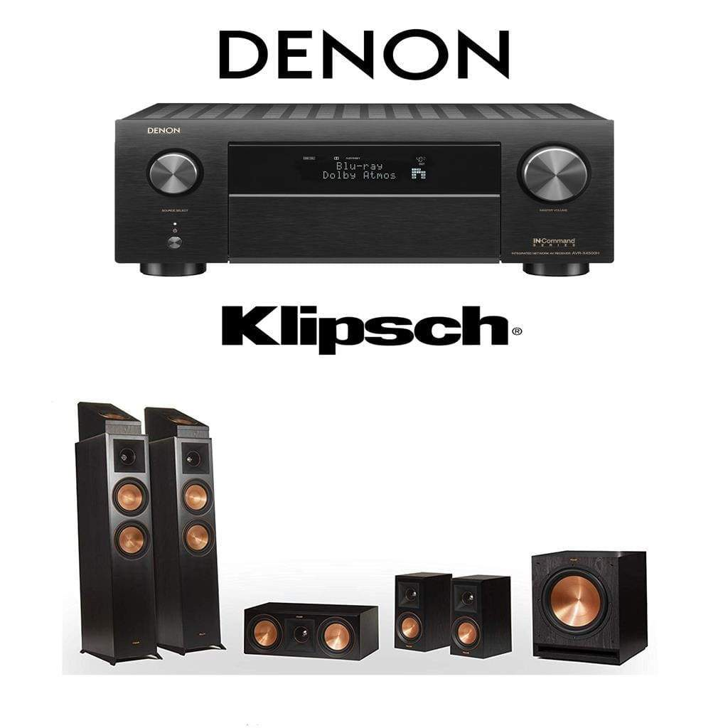 Klipsch RP-6000F 5.1.2 Dolby Atmos Home Theater System with Denon AVR-X3500H 7.2-Channel 4K Home Theater AV Receiver - Stereo Advantage