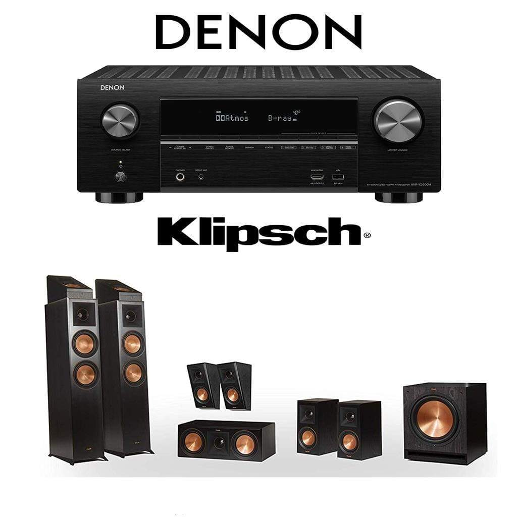 Klipsch RP-6000F 7.1.2 Dolby Atmos Home Theater System with Denon AVR-X3500H 7.2-Channel 4K Home Theater AV Receiver - Stereo Advantage