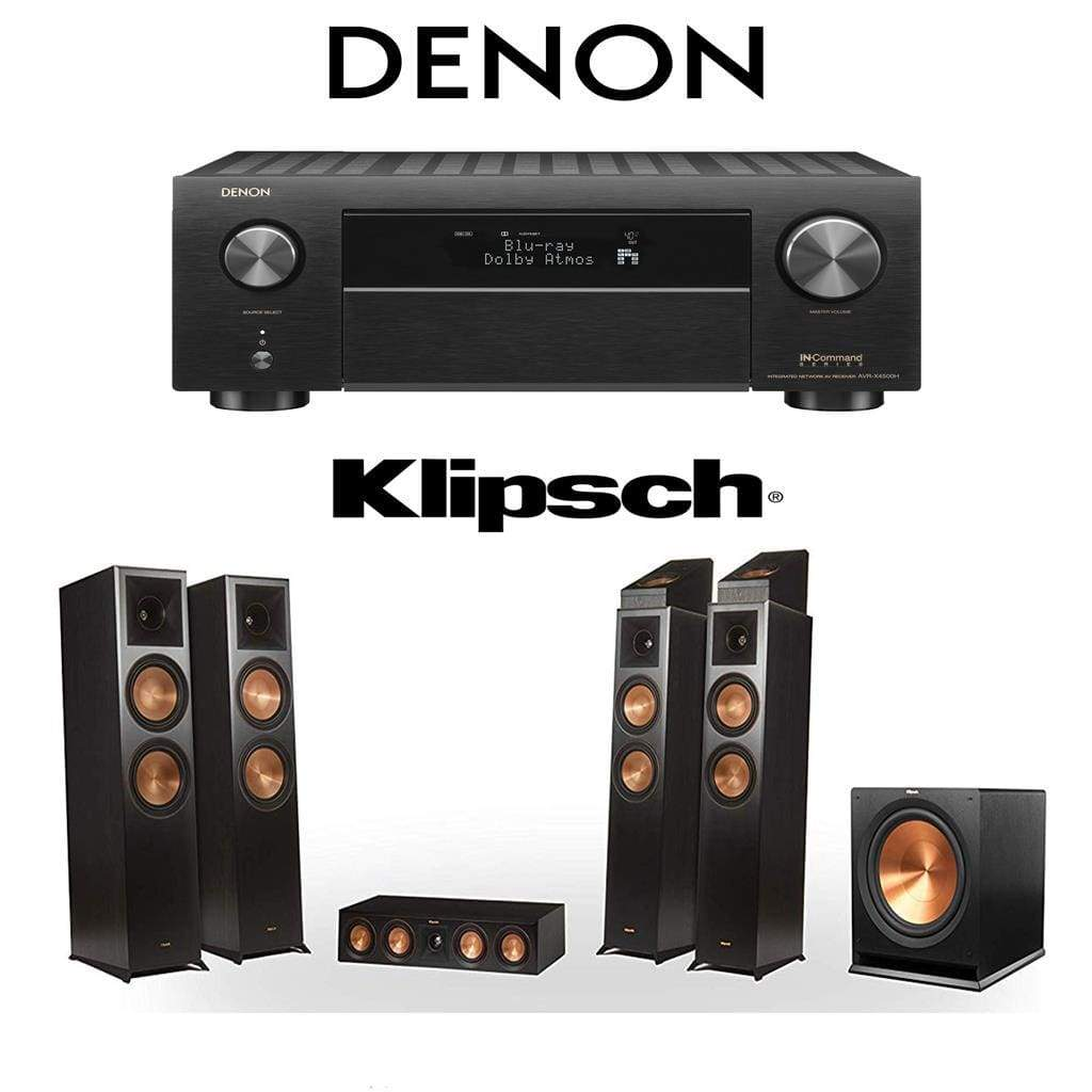 Klipsch RP-8060FA 5 1 4 Dolby Atmos Home Theater System with Denon  AVR-X4500H 9 2-Channel 4K Home Theater AV Receiver
