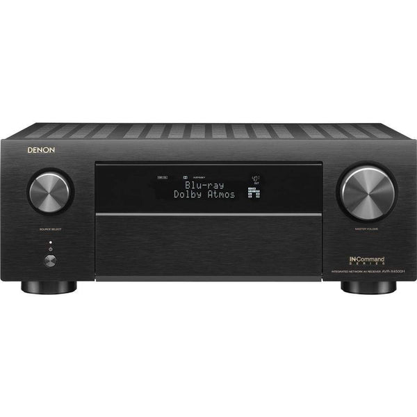 Denon AVR-X4500H 9.2CH High Power 4K Ultra HD AV Receiver Cutting Edge Home Theater with HEOS and Amazon Alexa Voice Control - Black