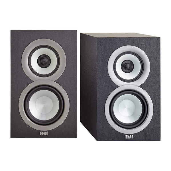 ELAC Uni-fi UB5 Slim Bookshelf Speaker (Finished Satin Black Cabinet, Pair)