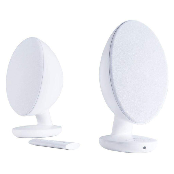 KEF EGG Versatile Desktop Speaker System - Gloss White (Pair)