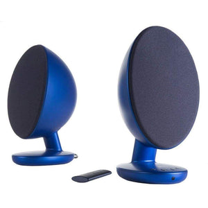 KEF EGG Versatile Desktop Speaker System - Gloss Blue (Pair) - Stereo Advantage