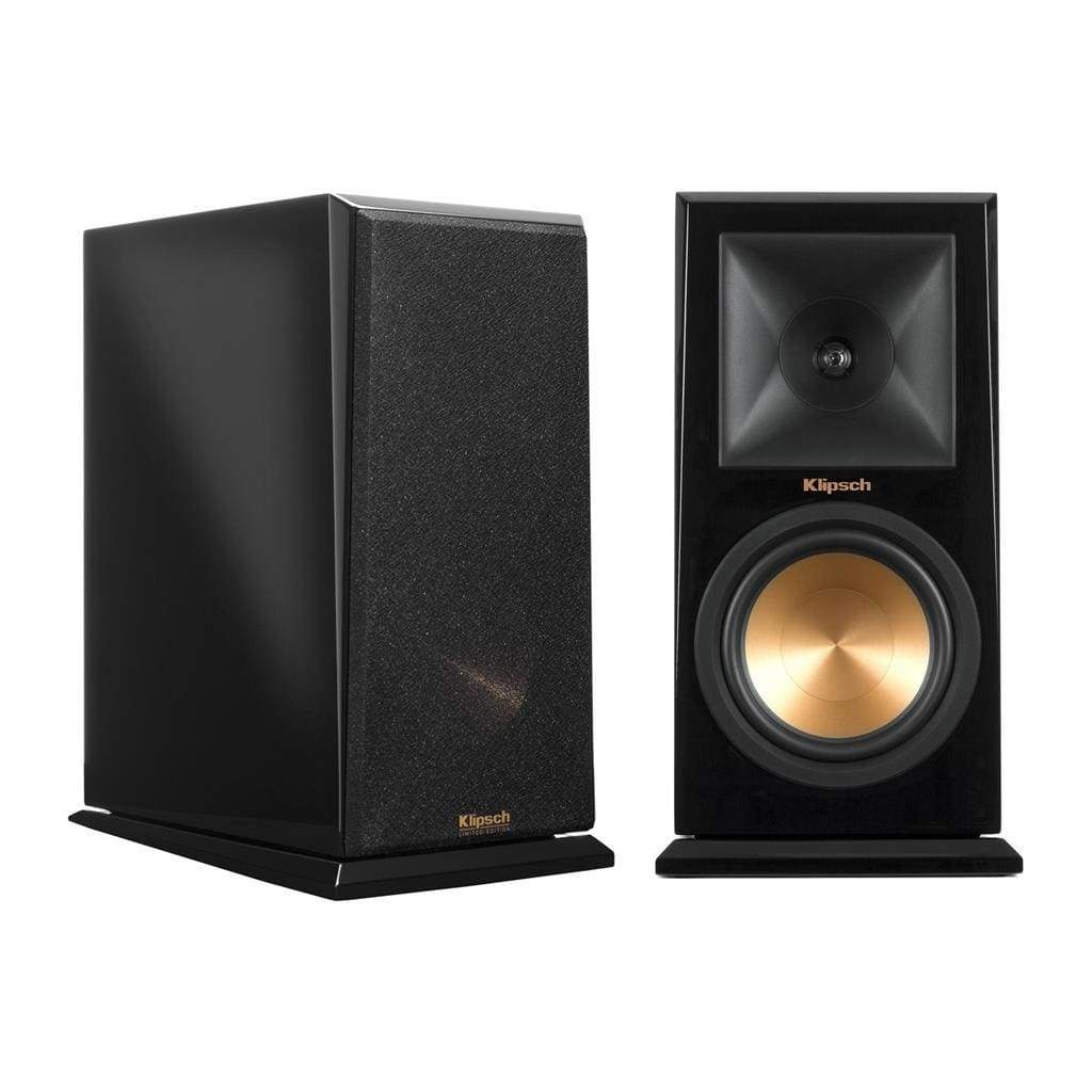 Klipsch RP-160M Reference Premiere Monitor Speaker with 6.5 inch Cerametallic Cone Woofer - Pair (Piano Black) - Stereo Advantage