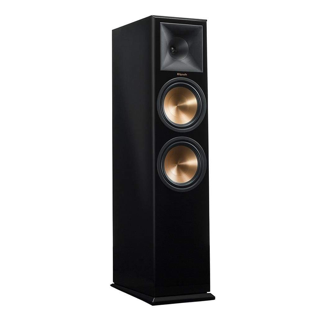 Klipsch RP-280F Reference Premiere Floorstanding Speaker with Dual 8 inch Cerametallic Cone Woofers PIANO BLACK Single - Stereo Advantage